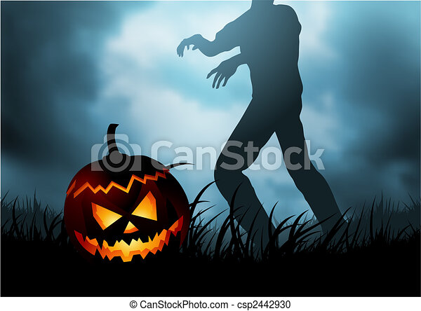 31, horror, octubre, -, unspeakable - csp2442930