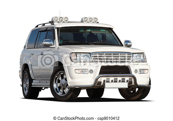 3/4 view of SUV - csp9010412