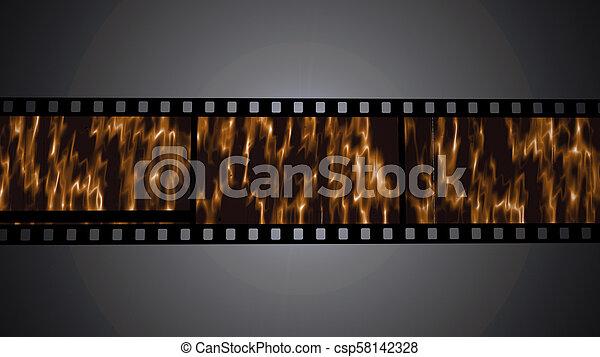 35 mm film strip - csp58142328