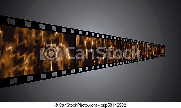 35 mm film strip - csp58142332