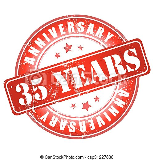 35 Years Anniversary Stamp Vector Illustration Vectors Search