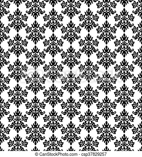 352 Black And White Diamond Shape Floral Wallpaper Seamless Black And White Charcoal Small Floral Elements Wallpaper This