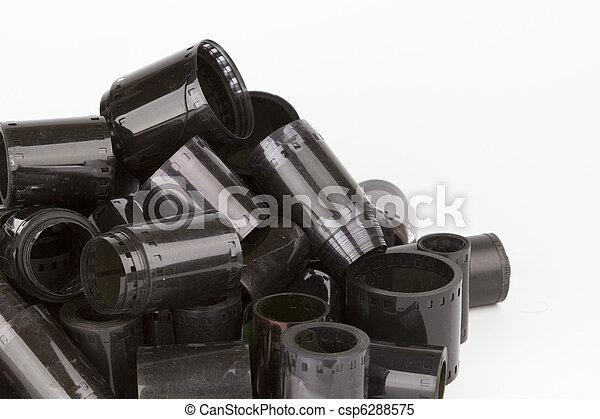 35mm film rolls negative - csp6288575