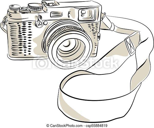 35mm SLR Film Camera Drawing
