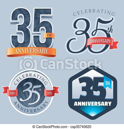 35th Anniversary Logo A Set Of Symbols Representing A 35 Years