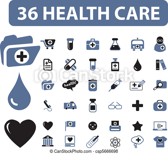 36 health care signs - csp5666698
