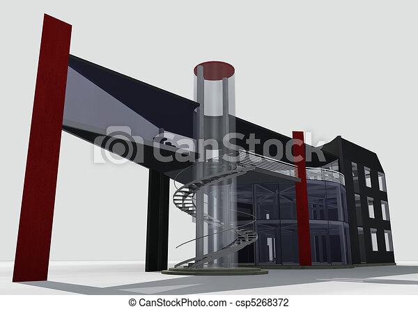 3d 0ffice building - csp5268372