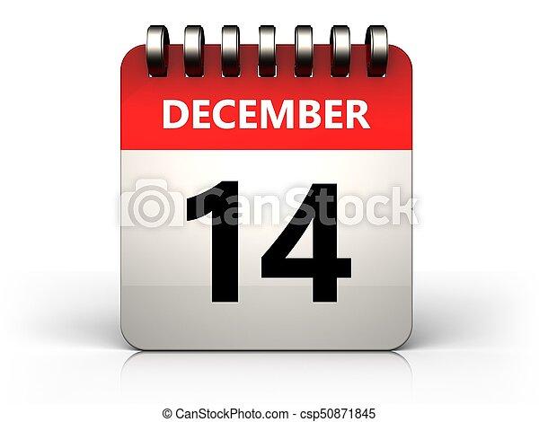 3d 14 december calendar - csp50871845