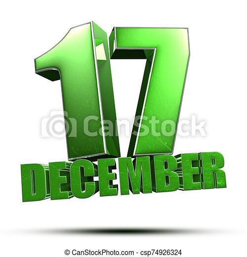 3d., 17, diciembre - csp74926324