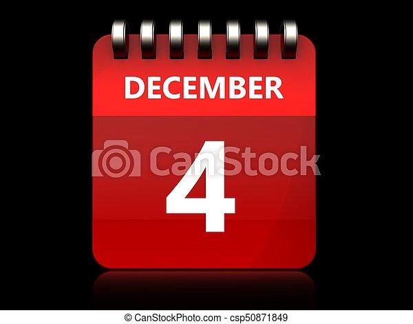 3d 4 december calendar - csp50871849