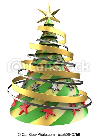3d abstract christmas tree 3d illustration of abstract christmas