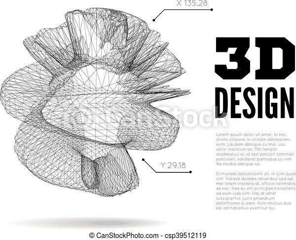 3D abstract design - csp39512119