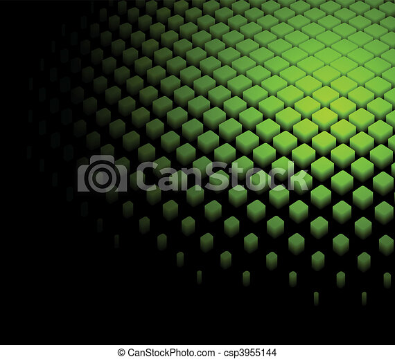 3d abstract dynamic green background - csp3955144
