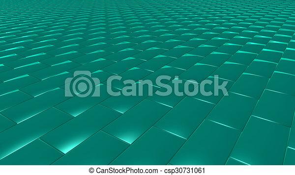 3D abstract green pattern brick - csp30731061