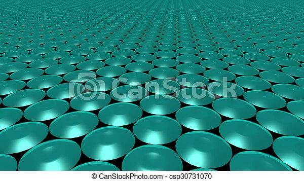 3D abstract green pattern circle - csp30731070