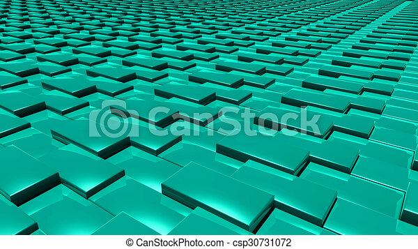 3D abstract green pattern layer - csp30731072