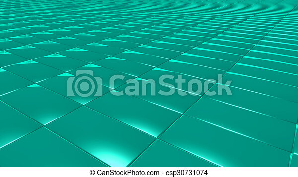 3D abstract green pattern rectangle - csp30731074