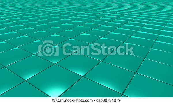 3D abstract green pattern square - csp30731079