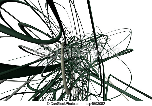 3d Line Drawings : D abstract lines on a white background great for clip art