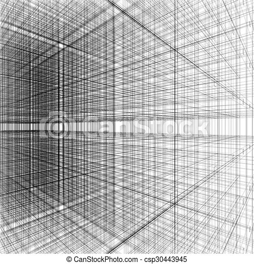 3d Abstract Of Grid Line Architecture Background