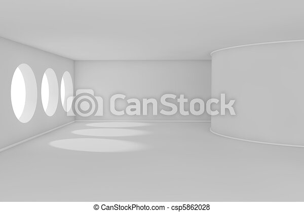 3d abstract room - csp5862028