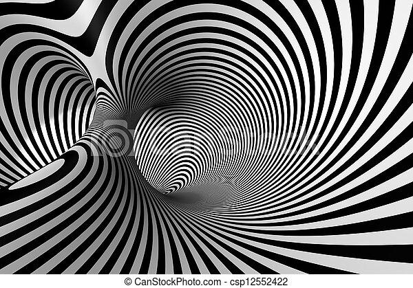 3D Abstract Spiral - csp12552422
