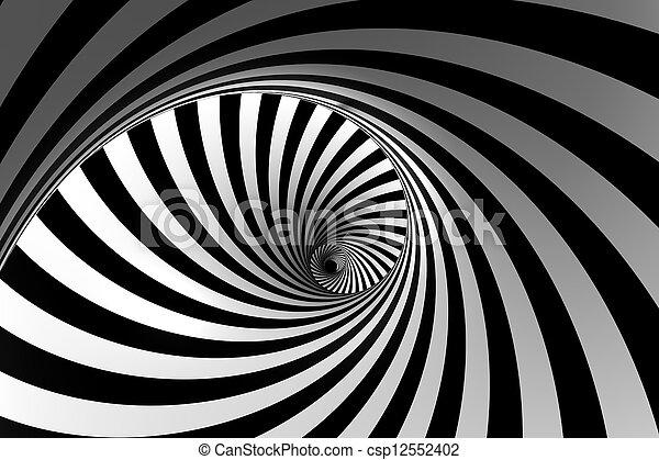 3D Abstract Spiral - csp12552402