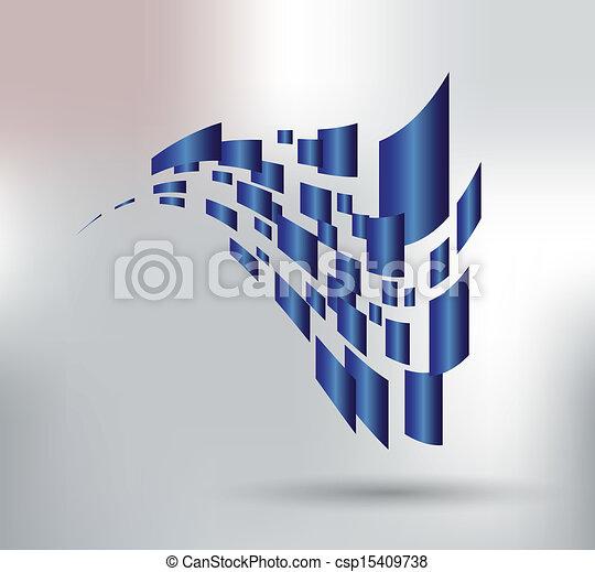 3d abstract vectors - csp15409738