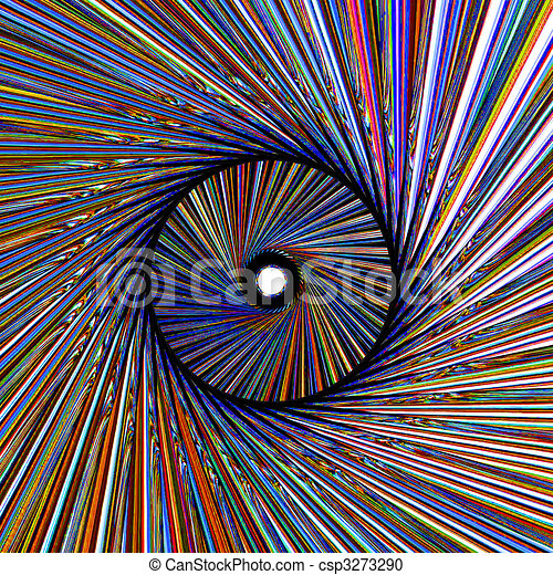 3D abstraction a colour pattern - csp3273290