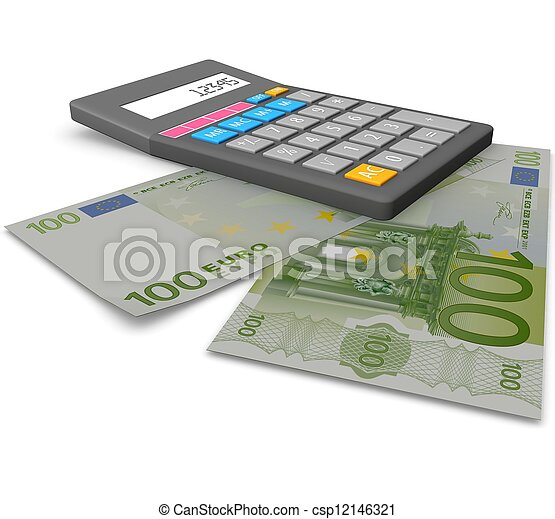 3d Accounting concept  - csp12146321