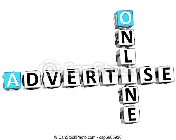 3D Advertise Online Crossword - csp6666938