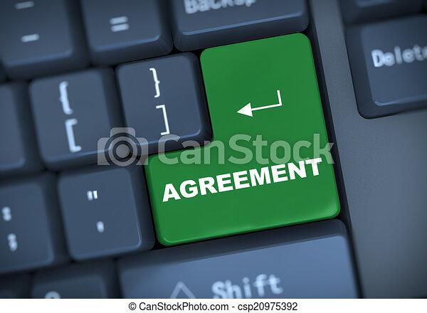 3d agreement keyboard concept - csp20975392