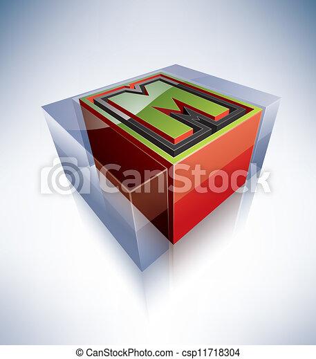 3d Alphabet Capital Letter M Three Dimensional Alphabet Capital