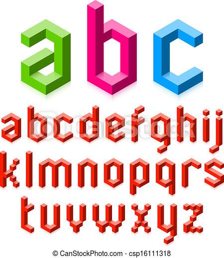 3D alphabet letters  - csp16111318