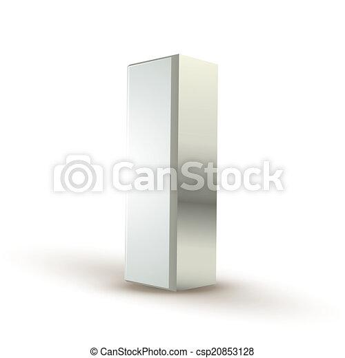 3d alphabet silver I - csp20853128