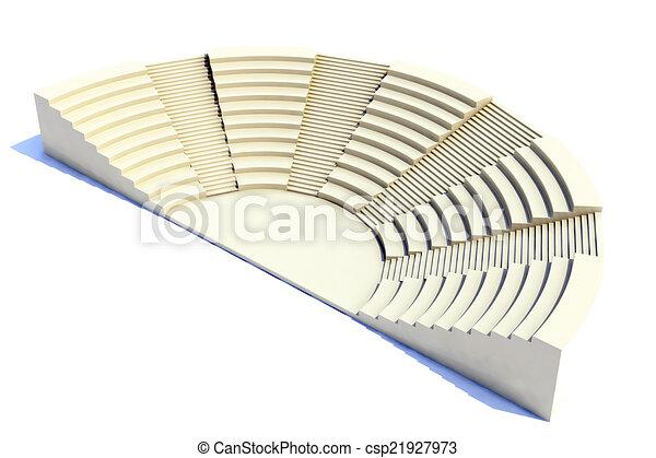 3d amphitheater roman style - csp21927973