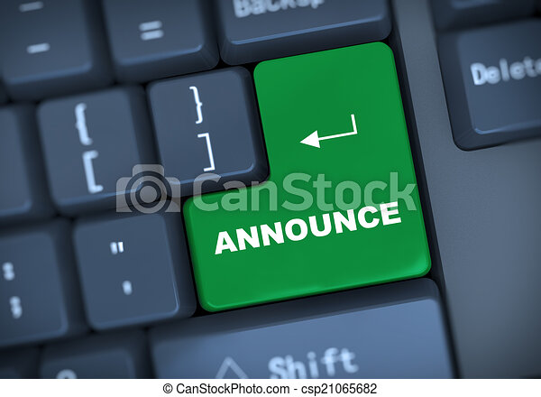 3d annouce keyboard concept - csp21065682