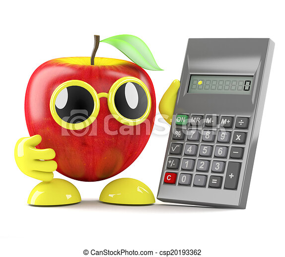 3d Apple accountant