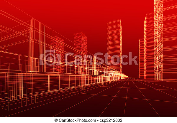 3D architecture abstract - csp3212802