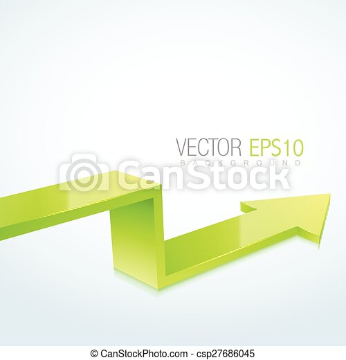 3d arrow design - csp27686045