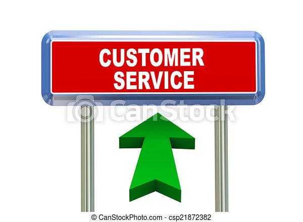 3d arrow road sign - customer service - csp21872382