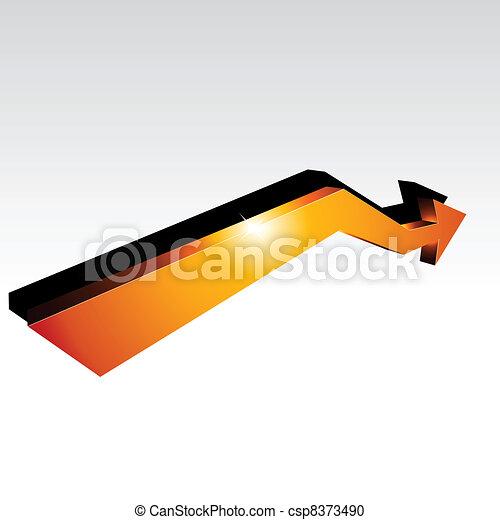 3d arrow. - csp8373490