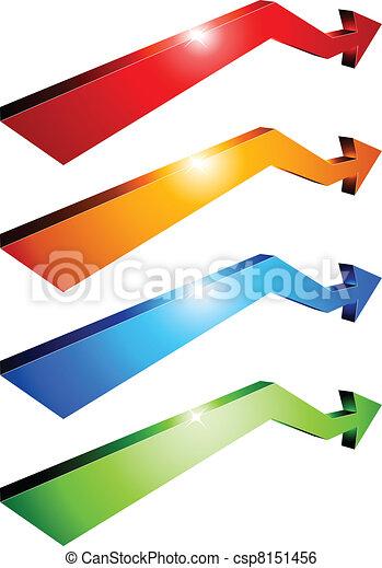 3d arrows. - csp8151456