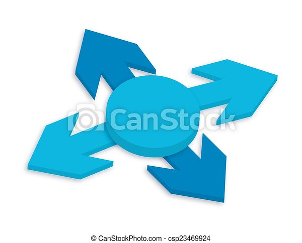 3d Arrows Direction Vector - csp23469924