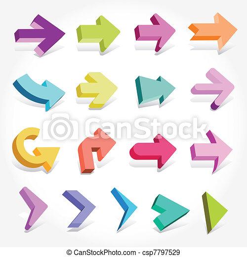 3D arrows - csp7797529