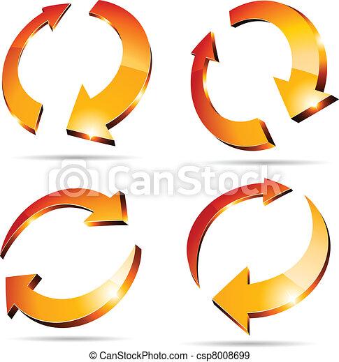 3d arrows. - csp8008699