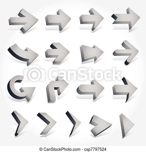 3D arrows - csp7797524