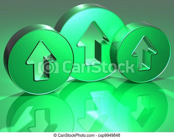 3D Arrows Green Sign - csp9949848