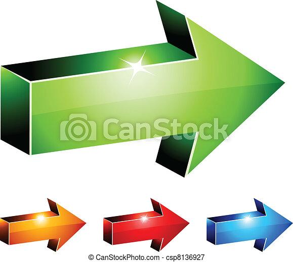 3d arrows. - csp8136927