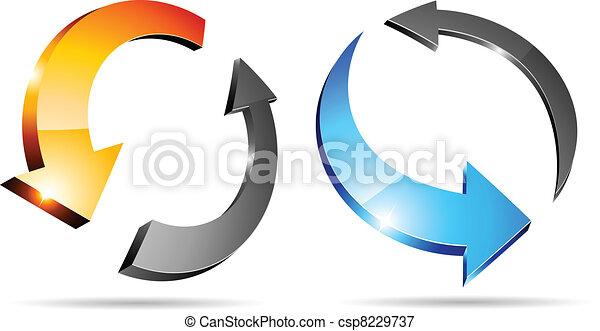 3d arrows. - csp8229737